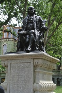 Statute of Ben Franklin at UPenn