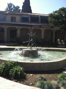Fountain in arts quad