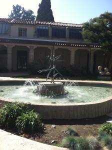 Fountain in arts quad
